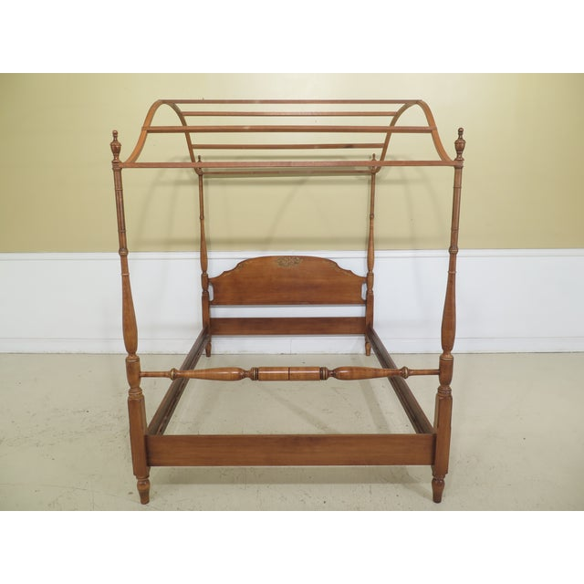 1980s Vintage Hitchcock Full or Double Size Poster Bed For Sale - Image 11 of 11