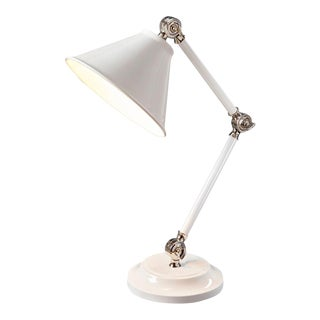Provence Element White Mini Table Lamp For Sale