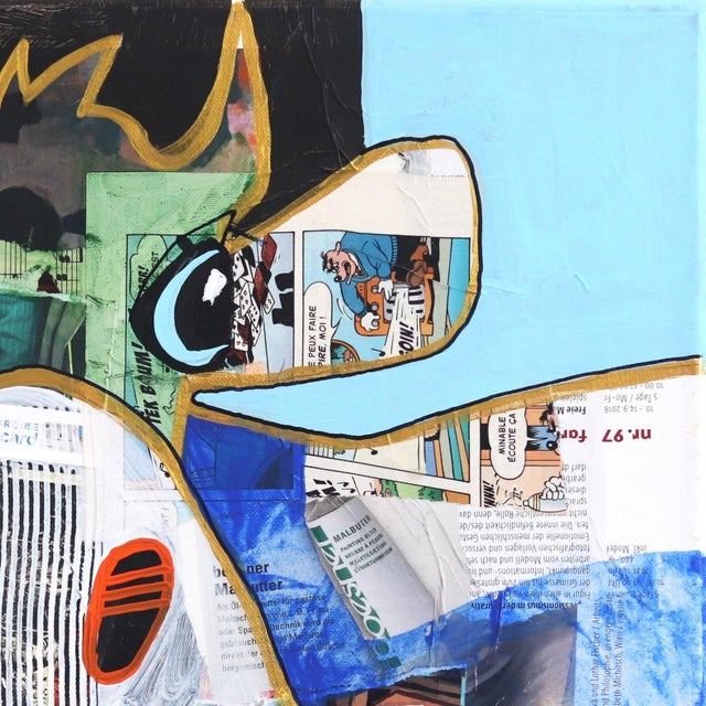 """Abstract Pop Art """"This Week"""" Original Artwork by Fredi Gertsch For Sale - Image 3 of 9"""