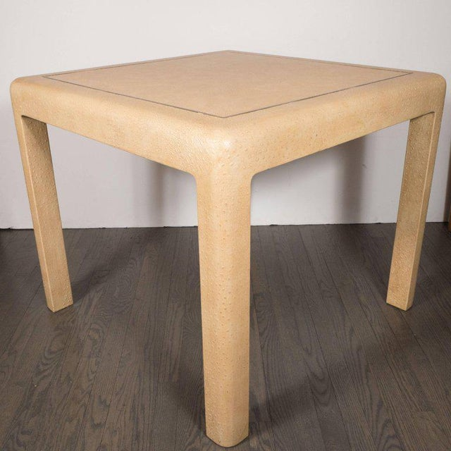 1980s Signed Mid-Century Modern Ostrich Game Table by Karl Springer For Sale - Image 5 of 11