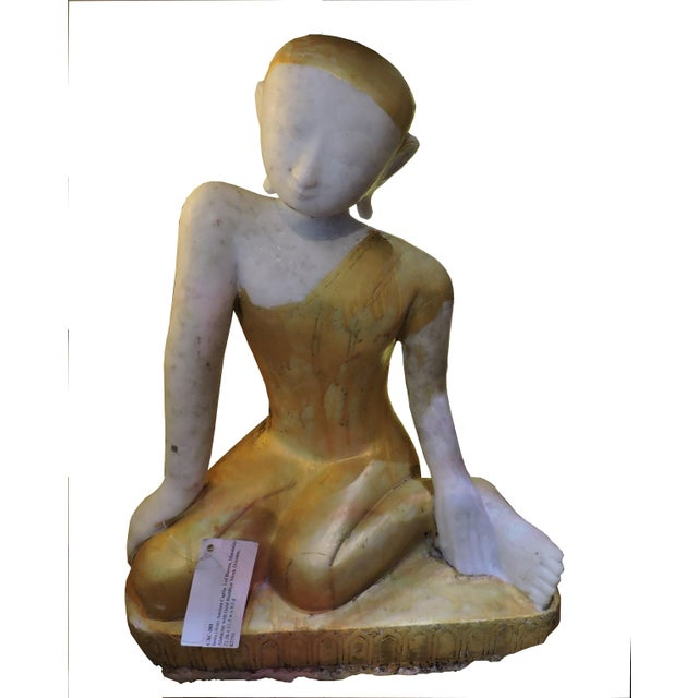 Sweet Alabaster Monk Devotee For Sale In San Francisco - Image 6 of 6