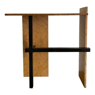 Burlwood Rietveld Style Console Table For Sale