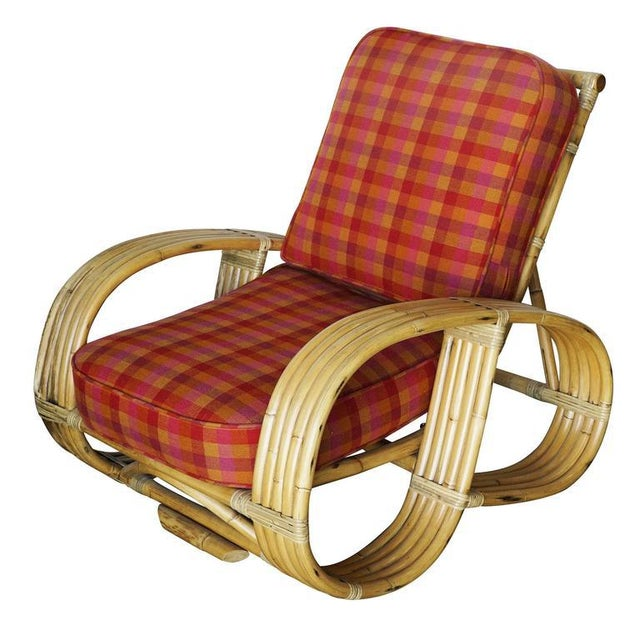 "Restored Rare Five-Strand ""Reverse Pretzel"" Rattan Living Room Set For Sale - Image 9 of 9"