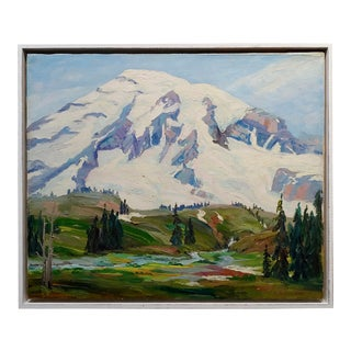 William Galen Doss -California Sierra Mountain in Snow -Oil Painting For Sale