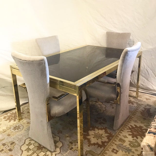 1970s Modern Milo Baughman Glass Top Extension Dining Table For Sale In New York - Image 6 of 7