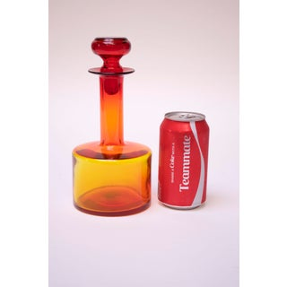 Mid-Century Modern Blown Glass Amberina Decanter by Blenko Preview