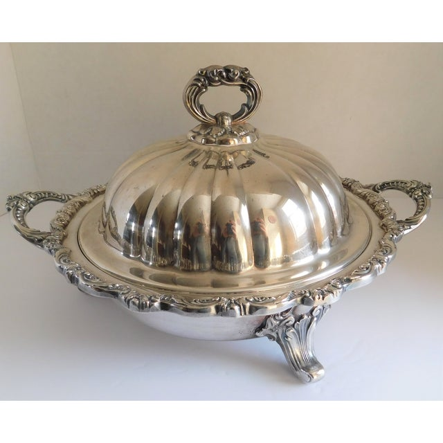 Poole Silver Co. Heavy Silverplate Casserole Dish For Sale - Image 12 of 12