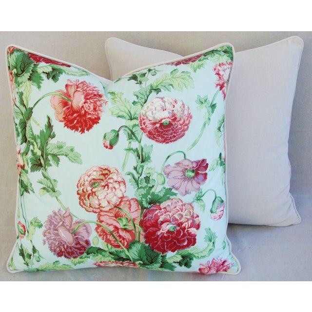Designer Brunschwig & Fils Poppies Pillows - Pair - Image 8 of 9