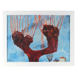 """Rip Matteson """"Bologna"""" Italian Landscape With Tree, 1971 1971 For Sale"""
