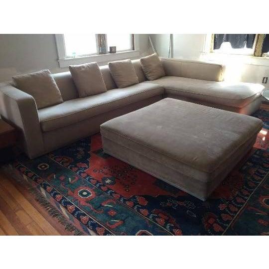 "B&B ITALIA Sectional Sofa & Large Ottoman - Antonio Citterio designed for Maxalto. The Sofa is the ""OMNIA"" series which is..."