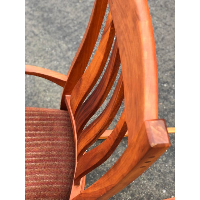 Vintage Mid Century Studio Crafted Rocking Chair For Sale - Image 10 of 13