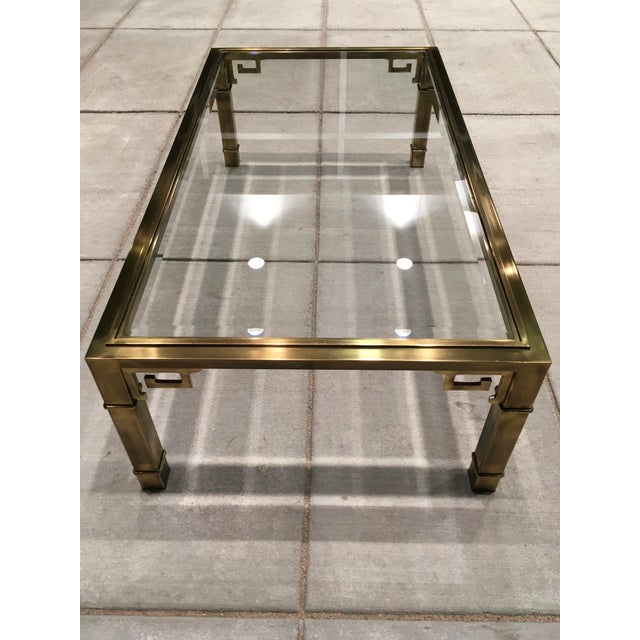 Mid-Century Greek Key Coffee Table by Mastercraft For Sale - Image 9 of 13