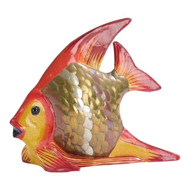 Vintage Fish Sculpture Attributed to Sergio Bustamante For Sale