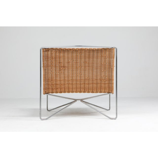 1960s Rattan & Steel Armchairs by Gelderland - a Pair For Sale - Image 10 of 13