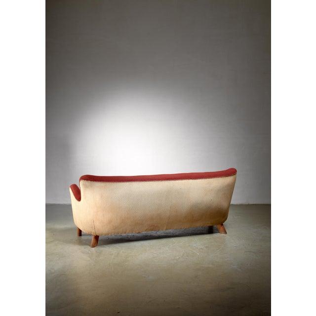 Mid-Century Modern Fritz Hansen Sofa, Denmark, 1940s For Sale - Image 3 of 4