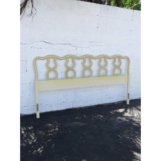 This gorgeous King Size Headboard is made out of solid wood. This classic Headboard is in original condition, and it has...