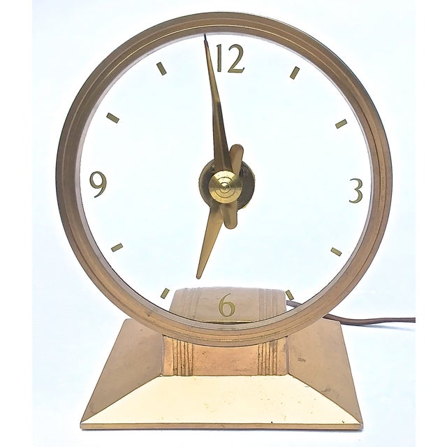 Vintage Art Deco Atomic Clock For Sale - Image 4 of 7