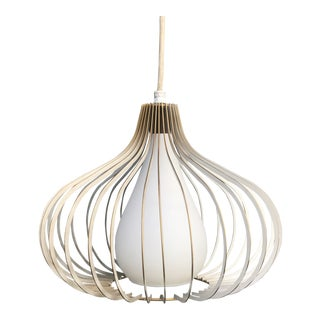 Vintage 1960's Mid-Century Modern Atomic Onion Cage Pendent Light For Sale