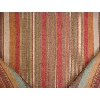 Ralph Lauren Santa Ysabel Stripe Clay Upholstery Fabric - 8 3/4 Yards For Sale