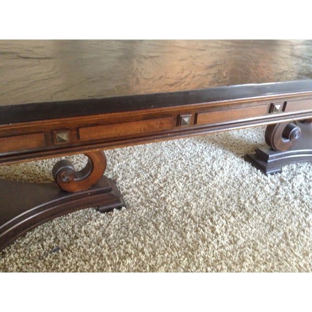Early 1970 slate top coffee table. This table is very rare and unique. The top comes off and is very heavy. This table was...