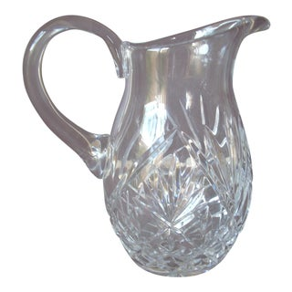 Vintage Traditional Cut Glass Pitcher For Sale