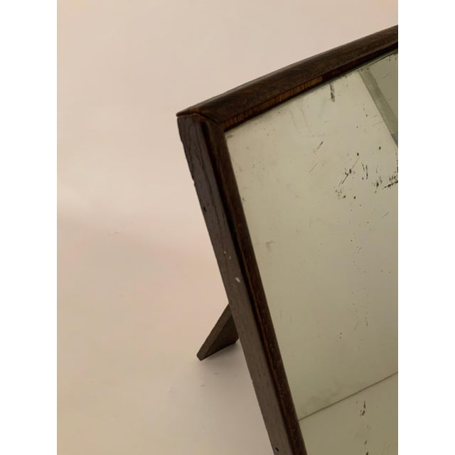 1930s 1930s Oak English Art Deco Table Top Mirror For Sale - Image 5 of 10