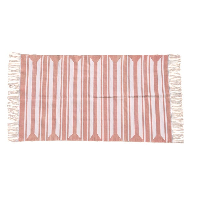 Boho Chic Rose Rug, 8x10, Blush & White For Sale - Image 3 of 3