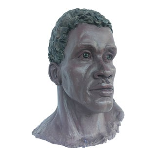 Black Male Clay Bust For Sale