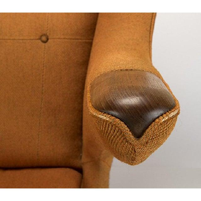 Hans Wegner Papa Bear Chair for AP Stolen. Model AP19, frame stamped to underside ''22'', upholstered in orange wool. Arm...