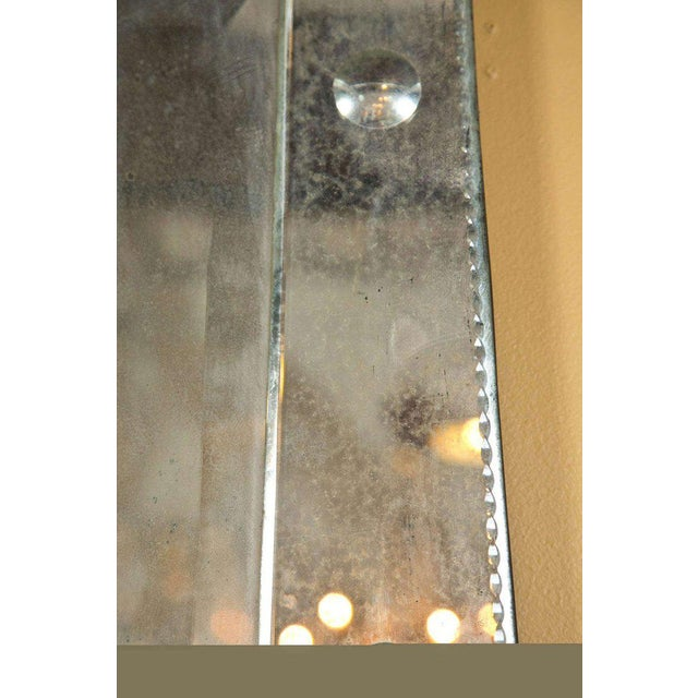 Hollywood Regency Venetian Style Rare Pyramid Design Bevelled Mirror For Sale - Image 4 of 8