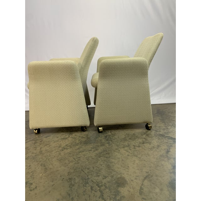 1990s Vladimir Kagan Style Modern Chromcraft Rolling Tilting Club Chairs For Sale - Image 5 of 10