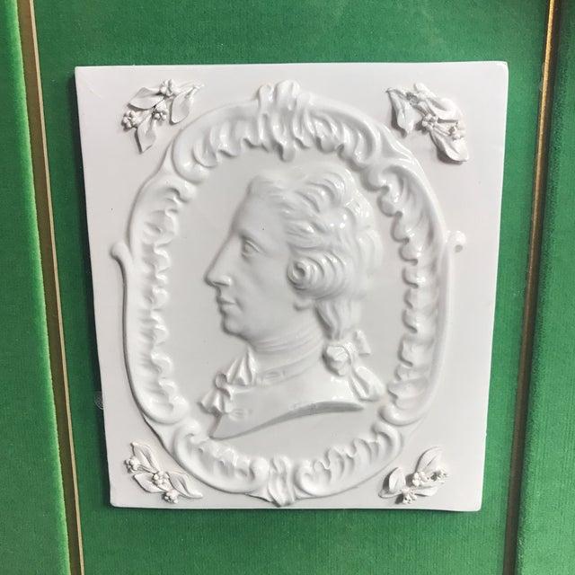 Figurative Vintage Georgian Era Framed Ceramic Tiles For Sale - Image 3 of 8