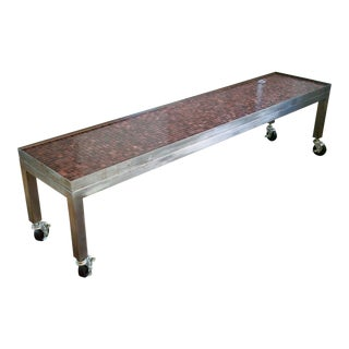Industrial Long Coffee Table For Sale