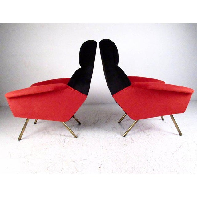 Italian Italian Modern Sculptural Lounge Chairs - A Pair For Sale - Image 3 of 11