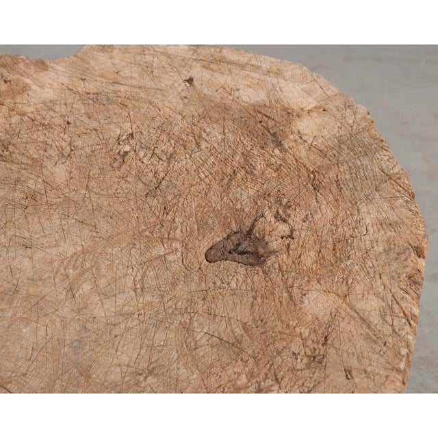 An impressive circular chopping block straight from the bucolic countryside of France! It is sectioned from an 8″ slab of...