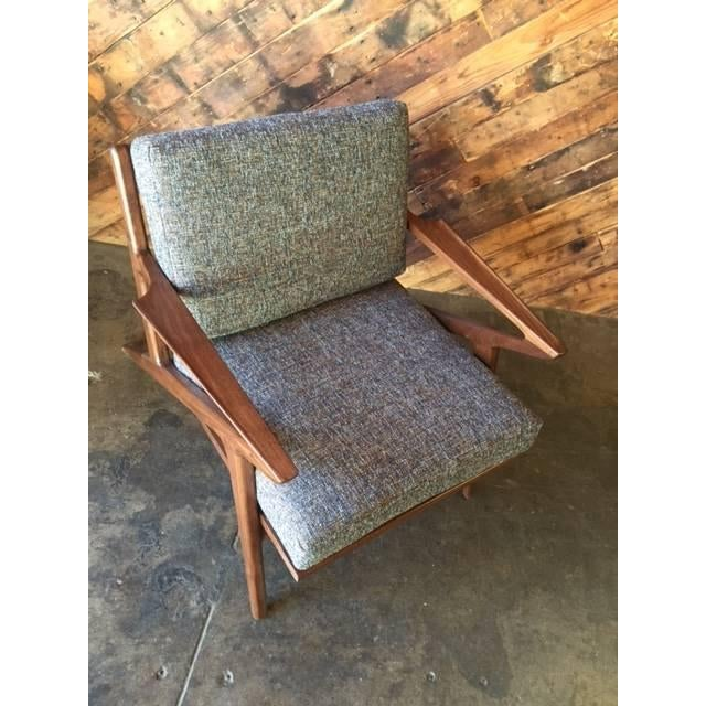 Mid Century Custom Selig Style Z Chair For Sale In Los Angeles - Image 6 of 8