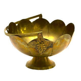 Decorative Indian Brass Bowl For Sale