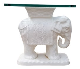 Image of White Ceramic Garden Stools