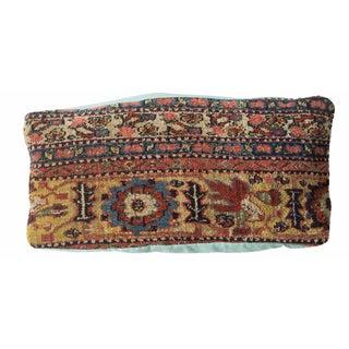 Antique Bijar Rug Border Fragment Pillow