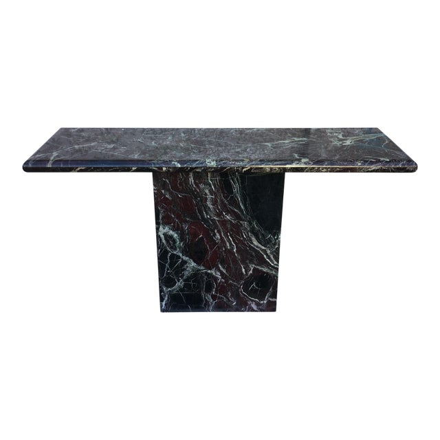 Marble Entryway Console Table For Sale