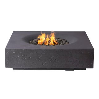 PyroMania Infinity Fire Pit Table - Charcoal Color, Natural Gas For Sale
