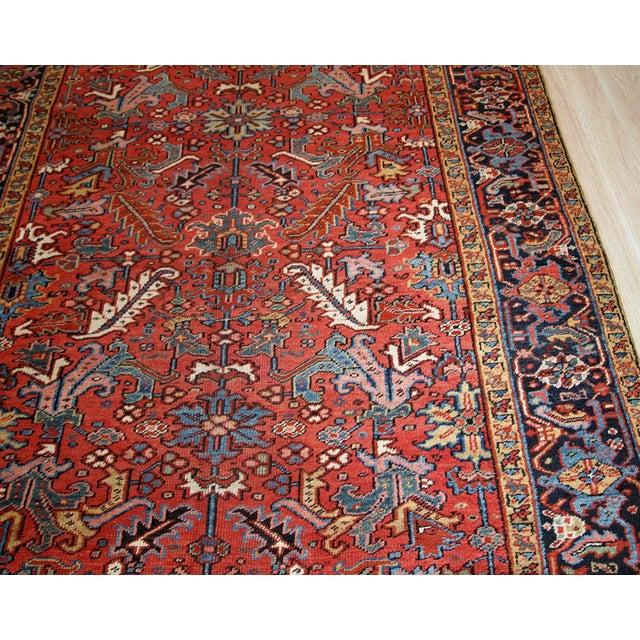 1900 - 1909 1900s, Handmade Antique Persian Heriz Rug For Sale - Image 5 of 12