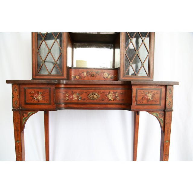 Wood 19th Century Federal Hand-Painted Secretary Desk For Sale - Image 7 of 12