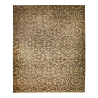 Modern Hand Knotted Rug For Sale