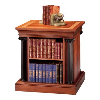 Revolving Double-Sided Bookcase For Sale