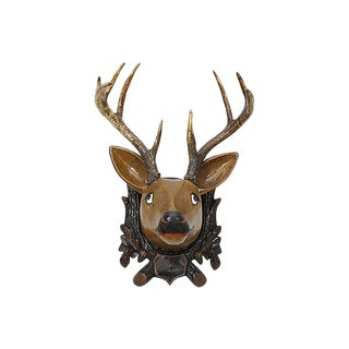 C.1880 - Papier-Mâché & Horn Folk Art Deer For Sale
