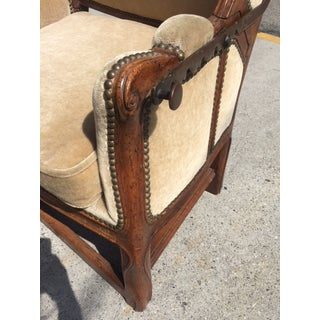 18th Century French Walnut Reclining Wingback Chair Preview