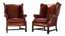 Image of Red Wingback Chairs