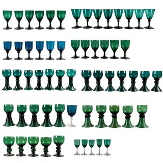 Collection of 61 Green Glasses For Sale