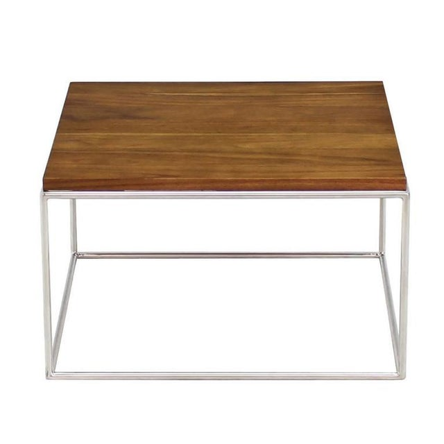 Brown Chrome Cube Nesting End Side Table For Sale - Image 8 of 9